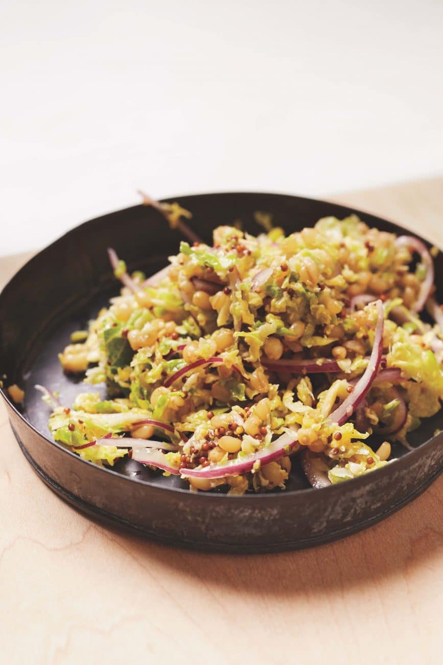 Wheatberry Salad with Cabbage and Mustard