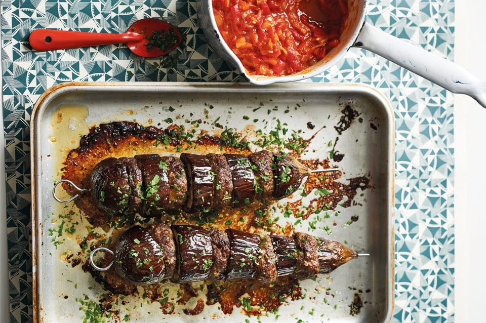 Eggplant tahini kebab