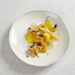 PEPPERS & MELON WITH OLIVE HERB & VENUS CLAMS