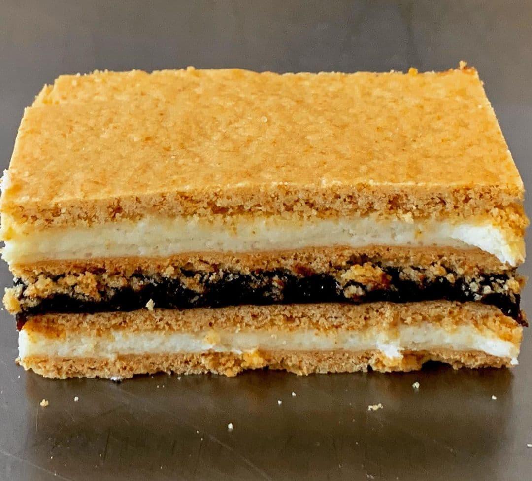 Albinita/Honey Cake With Plum Jam & Cream Filling