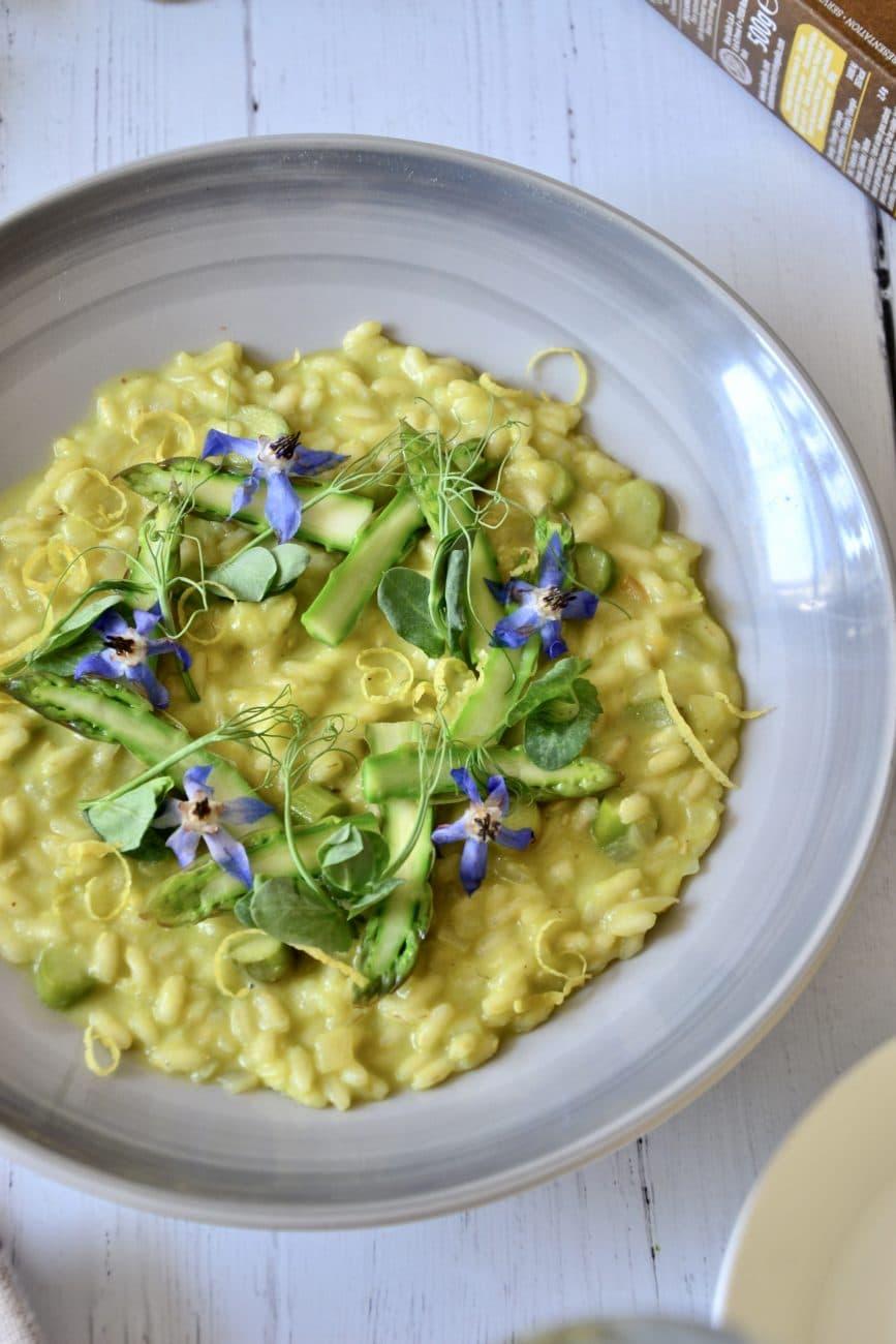 Asparagus and Prosecco Risotto by Chef Danilo Cortellini