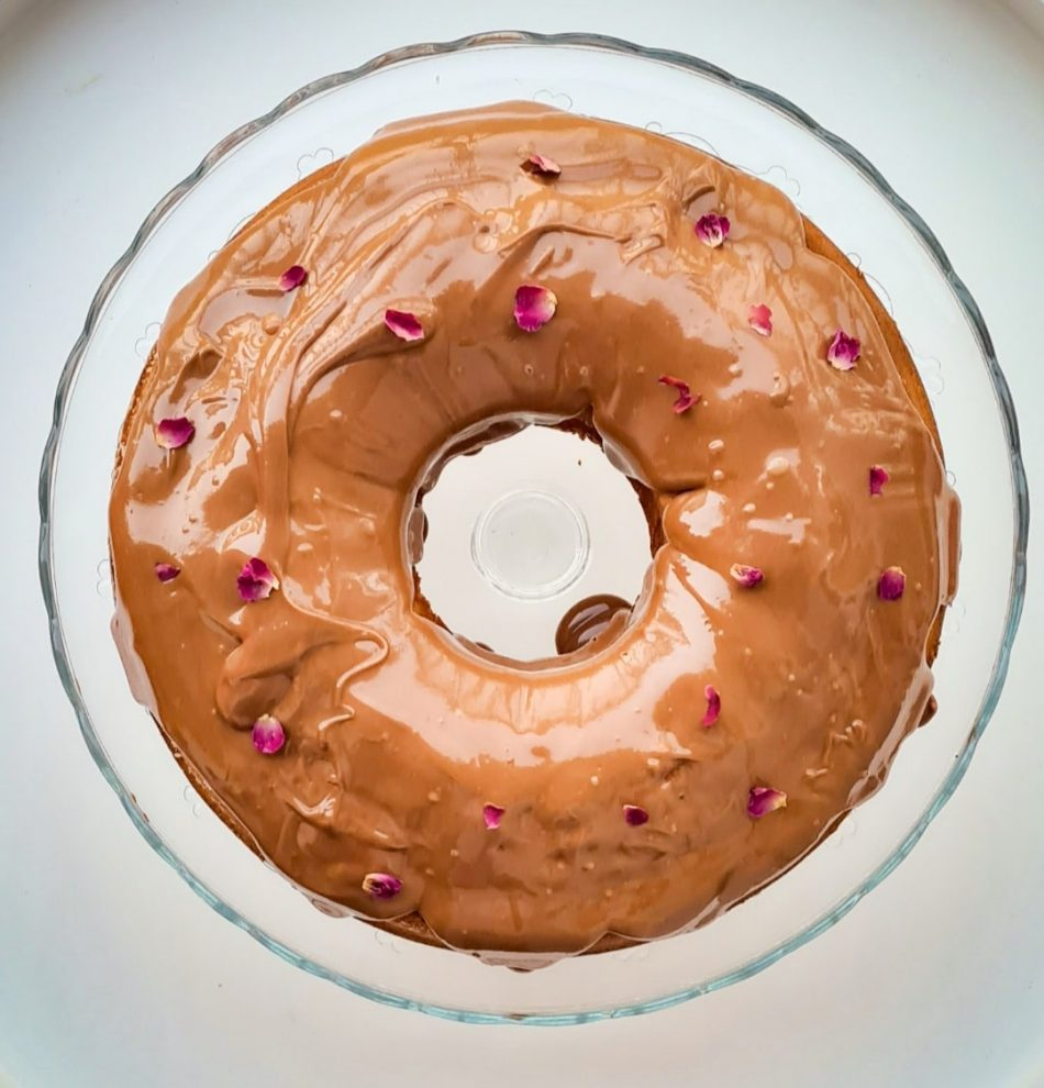 Glazed Peanut Butter Cake