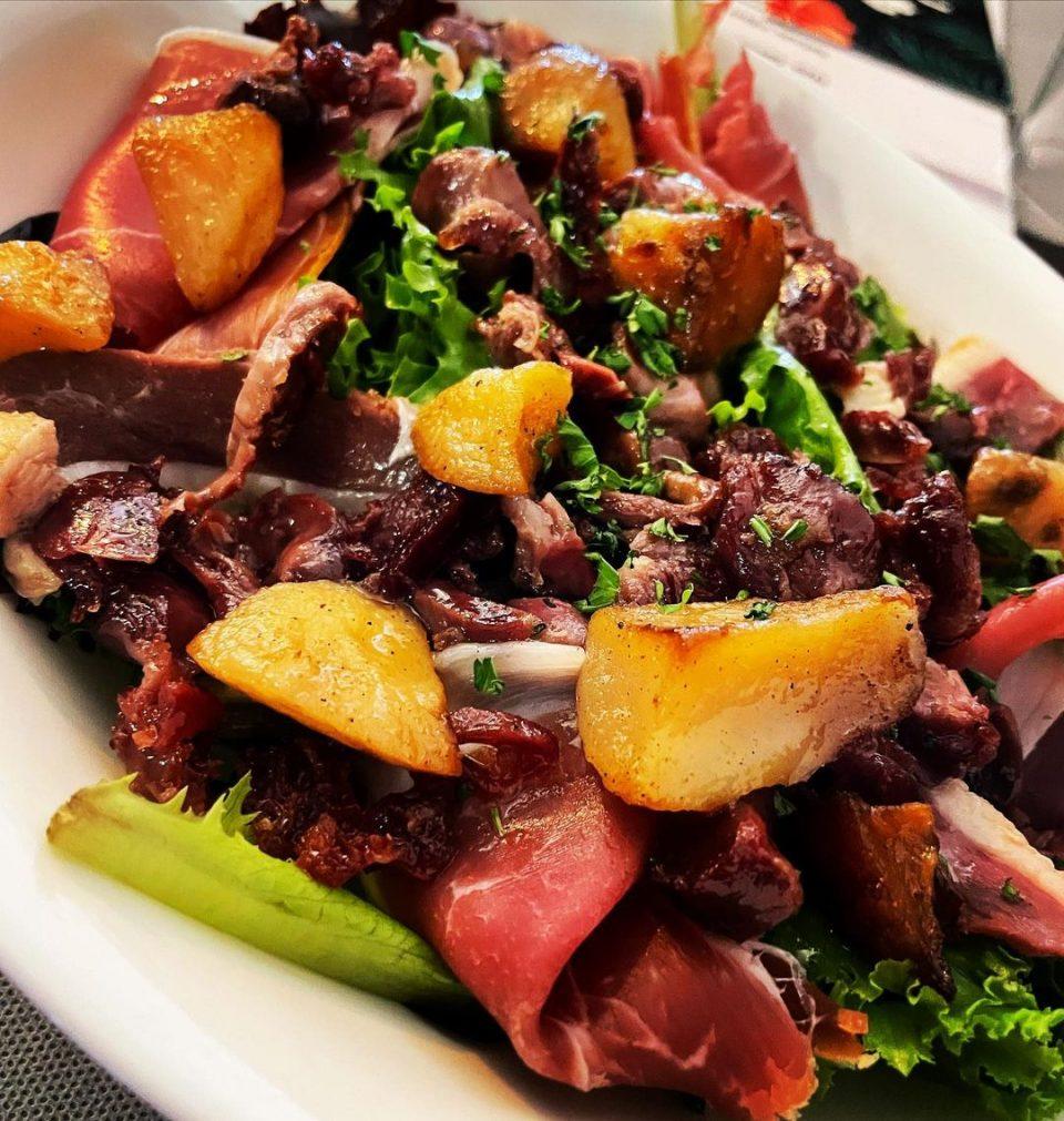 Salade landaise & salade périgourdine