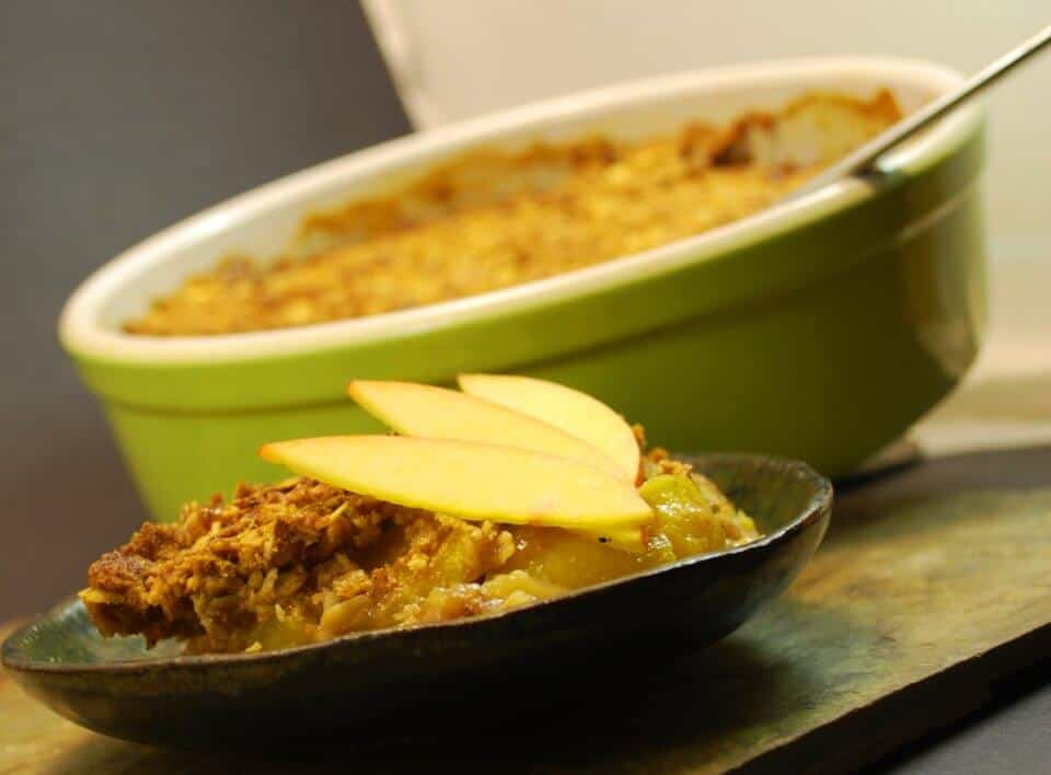 STONE FRUIT AND APPLE CRISP