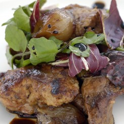 Chicken Liver with Wilted Radicchio, Caramelized Eschalots and Reduced Balsamic