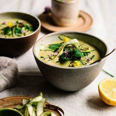 Tahini & Lemon Asparangurs Soup