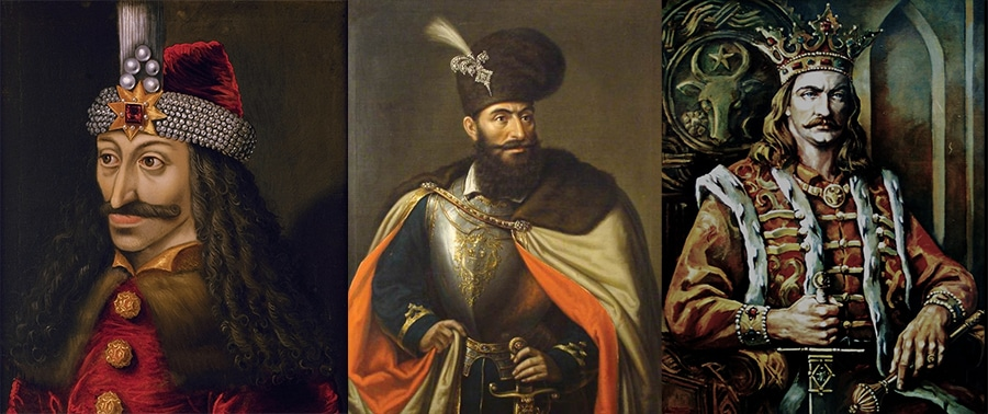 Three portraits of three rulers from Middle Age