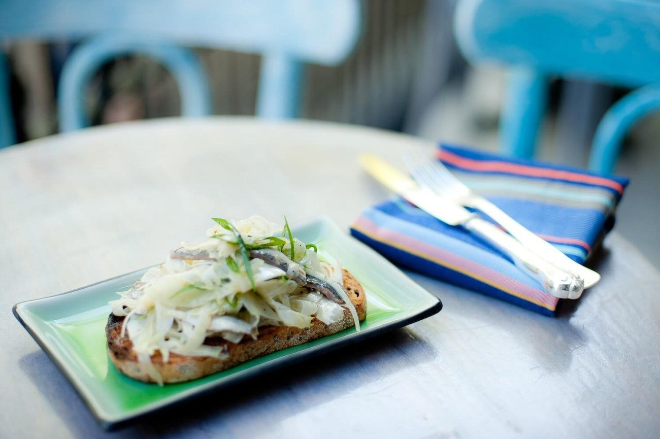 MARINATED SARDINES & FENNEL ON TOAST