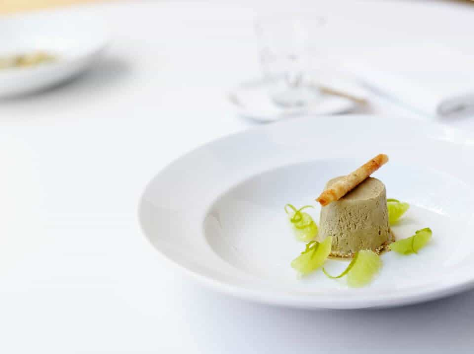 LICORICE PARFAIT WITH LIME SYRUP