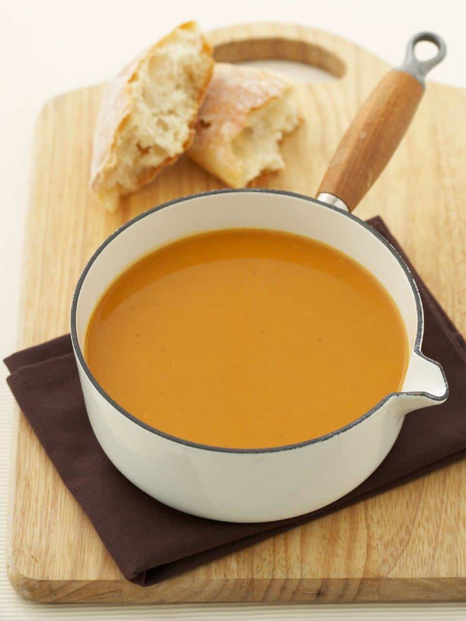 ROASTED SWEET POTATO, GINGER AND CINNAMON SOUP