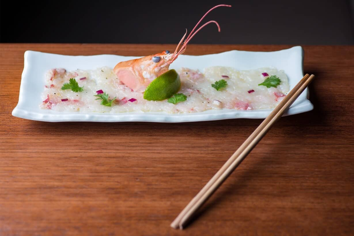 LANGOUSTINE CARPACCIO WITH CITRUS DRESSING