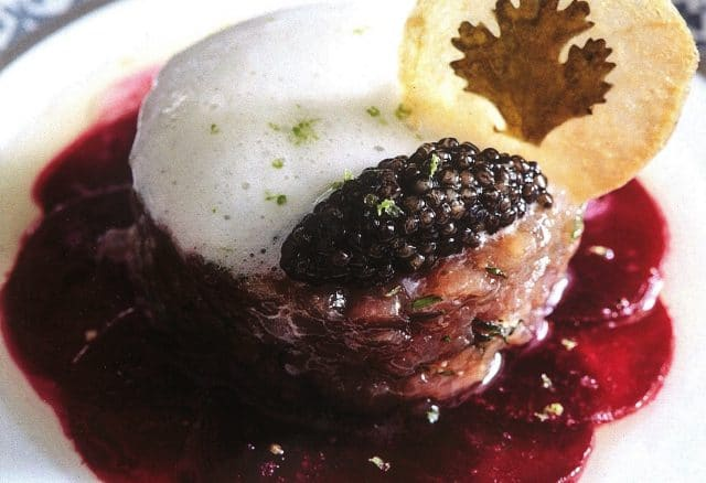 Red Tuna Heart, Beetroot, Vodka and Osetra Caviar