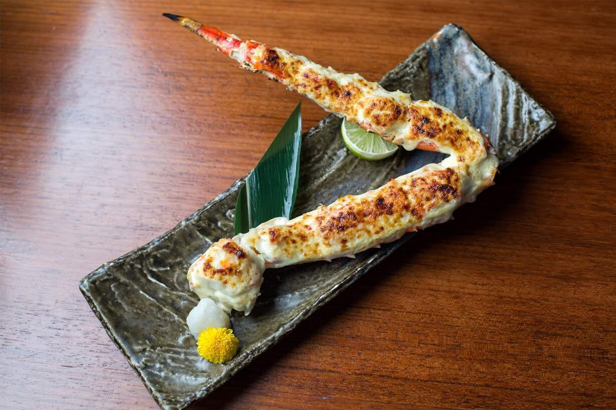 KING CRAB LEG WITH WASABI GRATIN