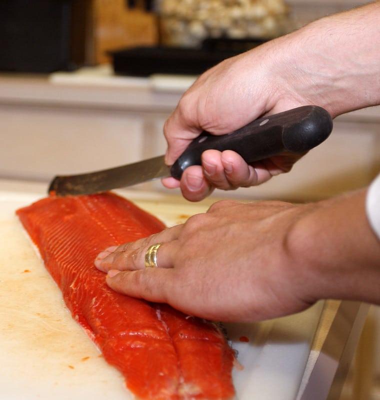 Salmon preparation