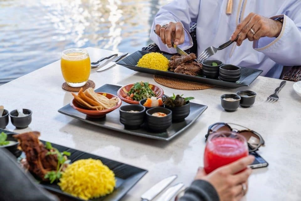 Amazing menu options at The Chedi Muscat