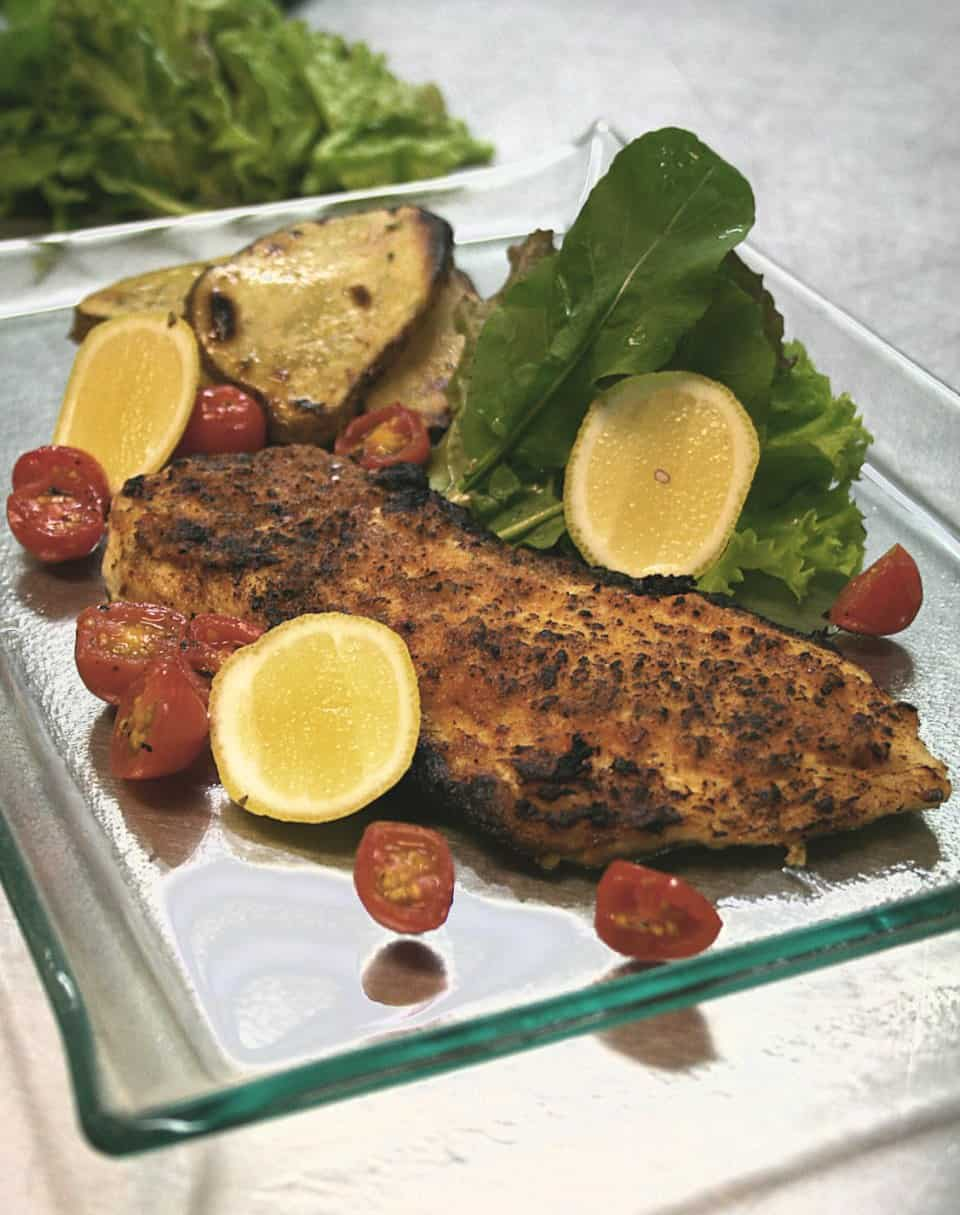 CHILI BASTED GRILLED TILAPIA FILLET