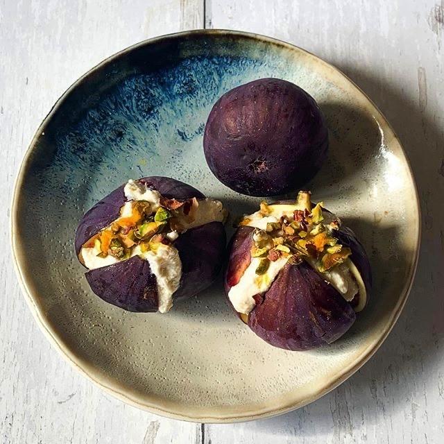 Orange Cardamon Ricotta Figs