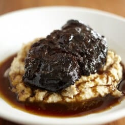 BEEF CHEEKS WITH PEDRO XIMENEZ
