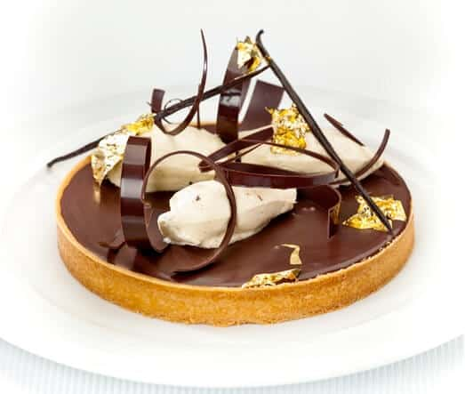 ALMOND, COFFEE & CHOCOLATE TART WITH MASCARPONE CREAM