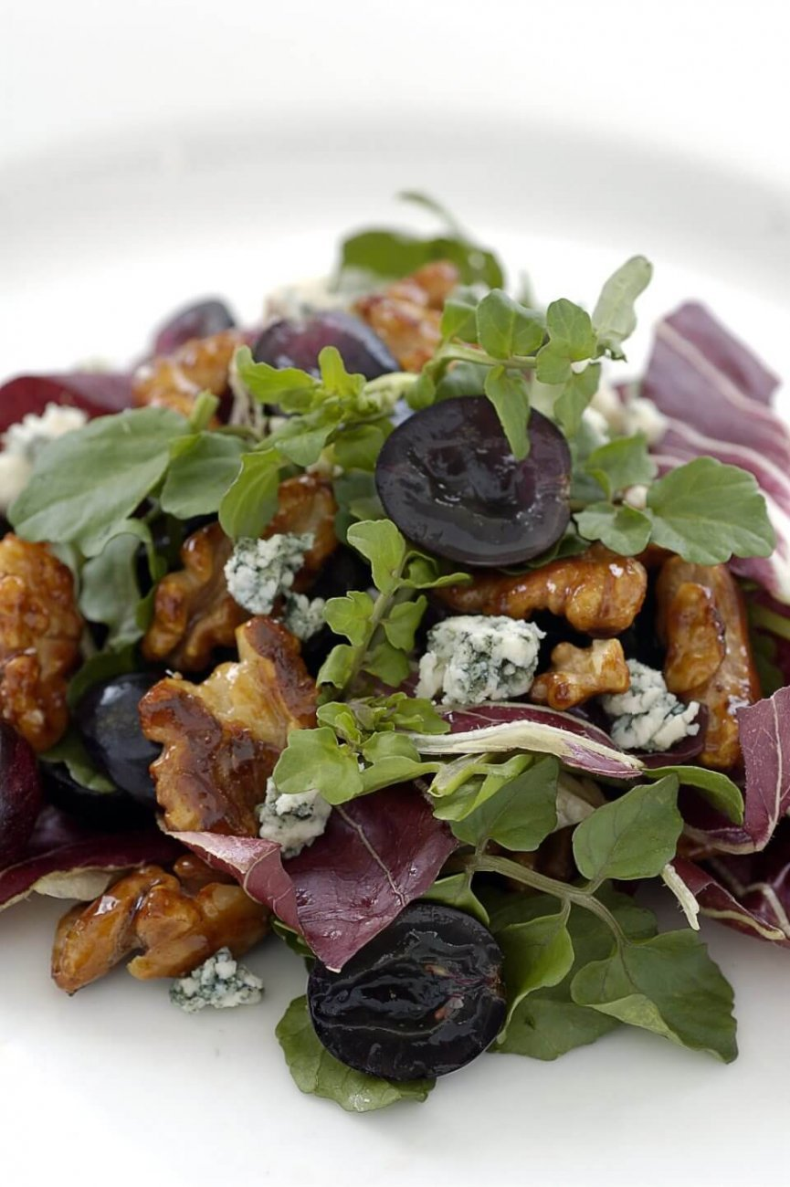 RADICCHIO WITH CABERNET, HONEYED WALNUTS AND BLUE CHEESE