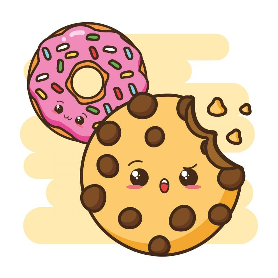 Cookie with a donut