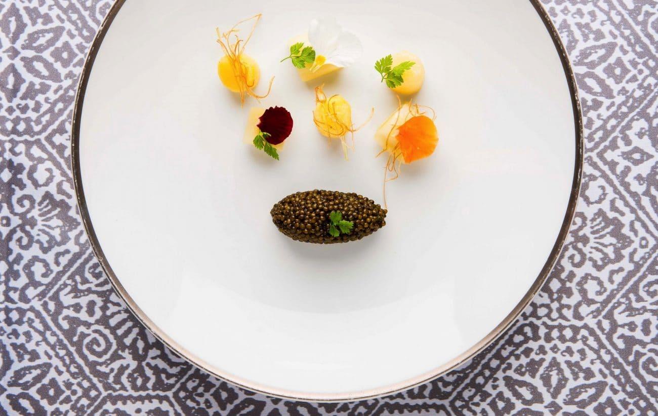 Leeks, Caviar, and Potatoes (Signature Dish)