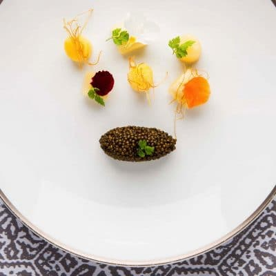Leeks, Iranian Osetra Caviar and Potatoes (Signature Dish)