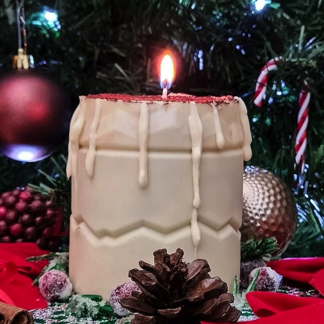 Edible Tiramisu Candle