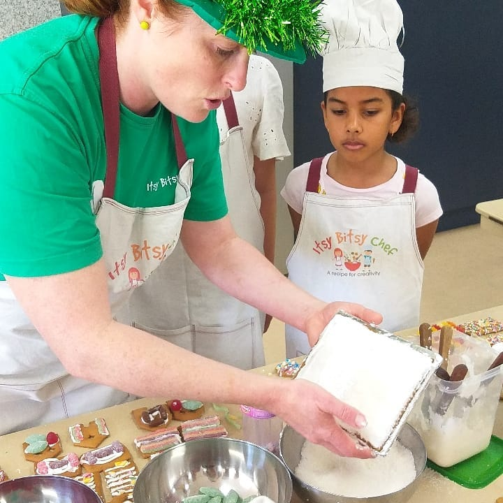Cooking at Itsy Bitsy Chef Cooking Program