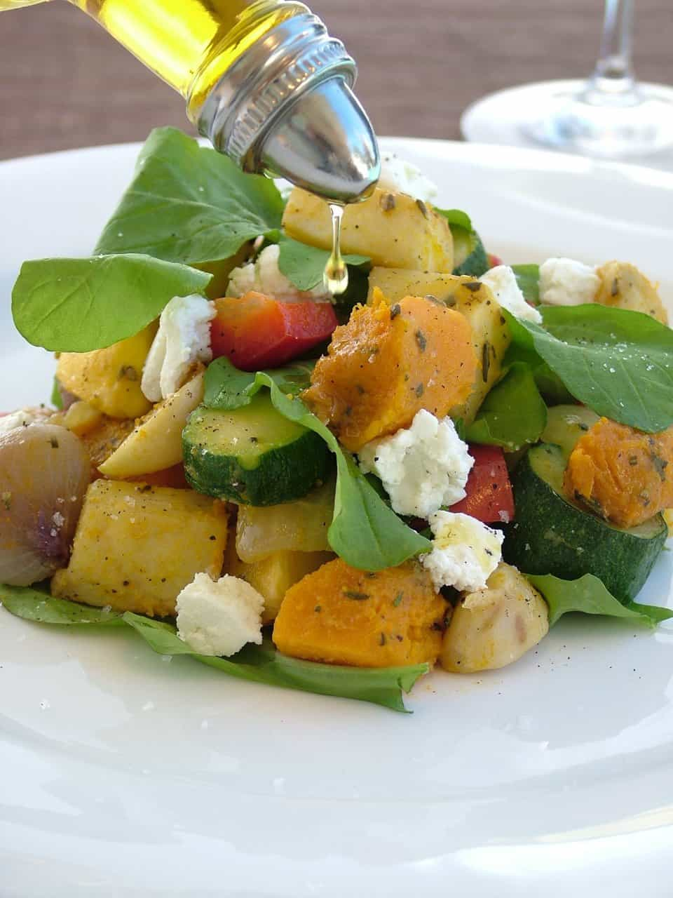 Warm Roasted Vegetable Mediterranean Salad Recipes — Dishmaps