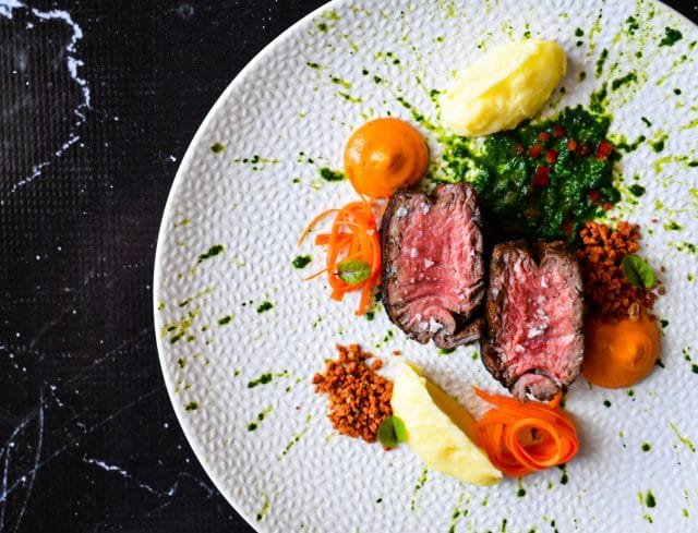 Beef Sous Vide with Pepper Cream