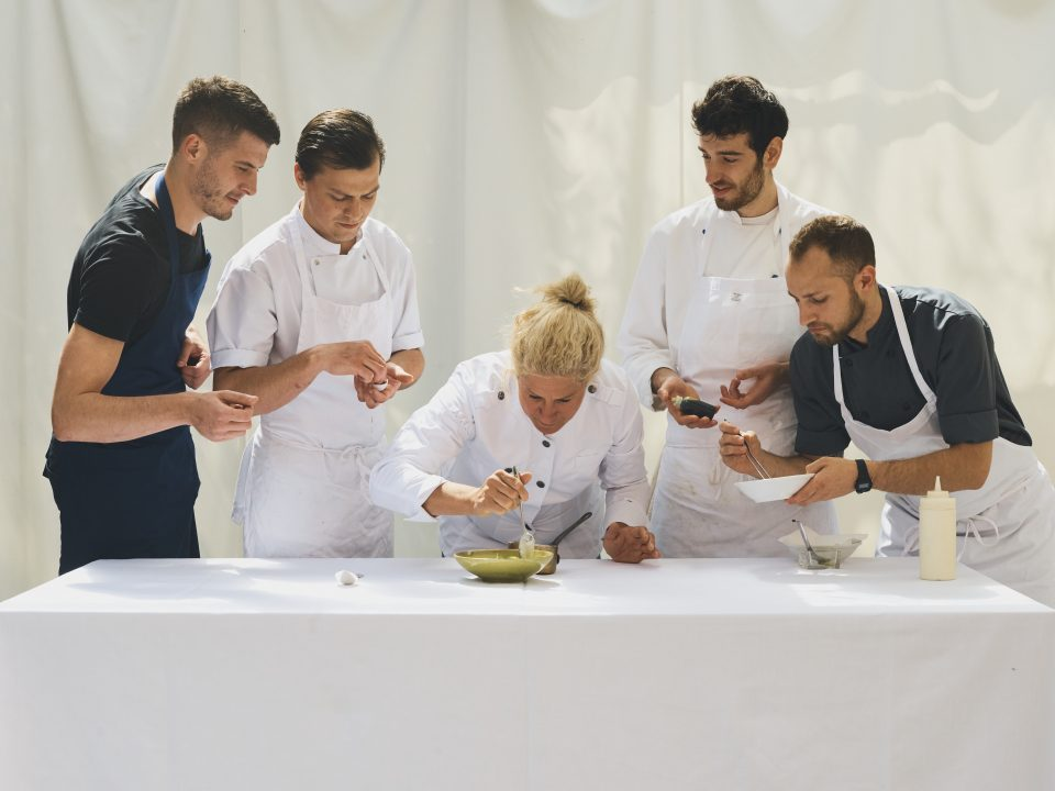 Chef Ana Rose with part of her team