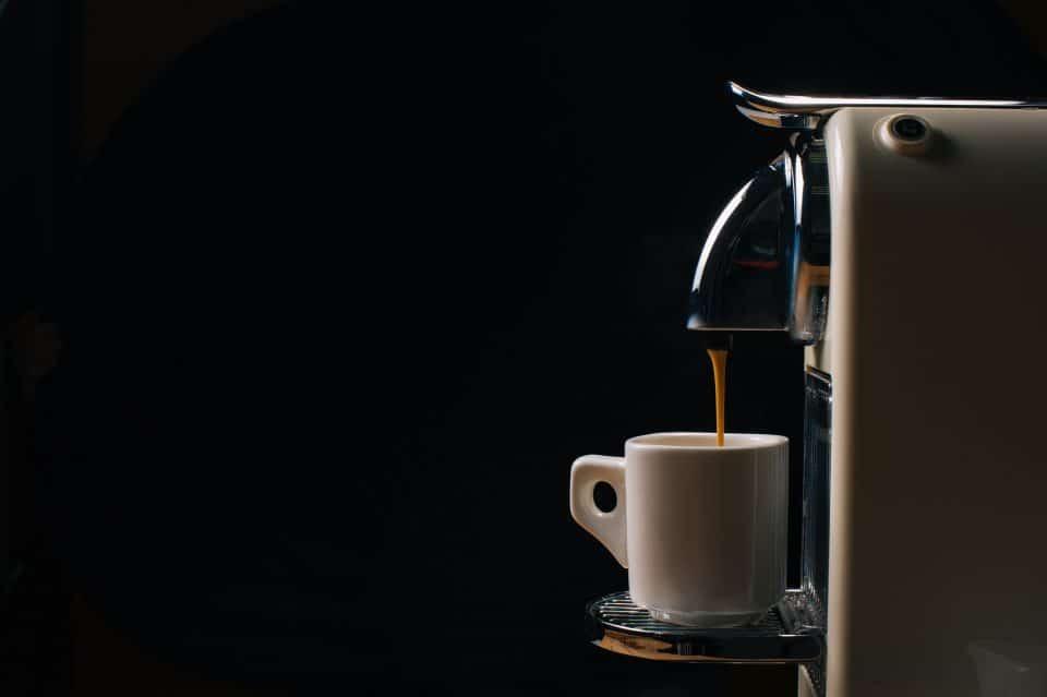 Pouring coffee espresso