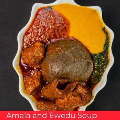 Amala and Ewedu Soup