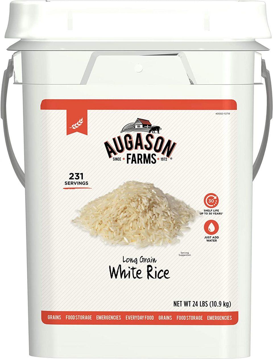 Augason Farms Long Grain White Rice