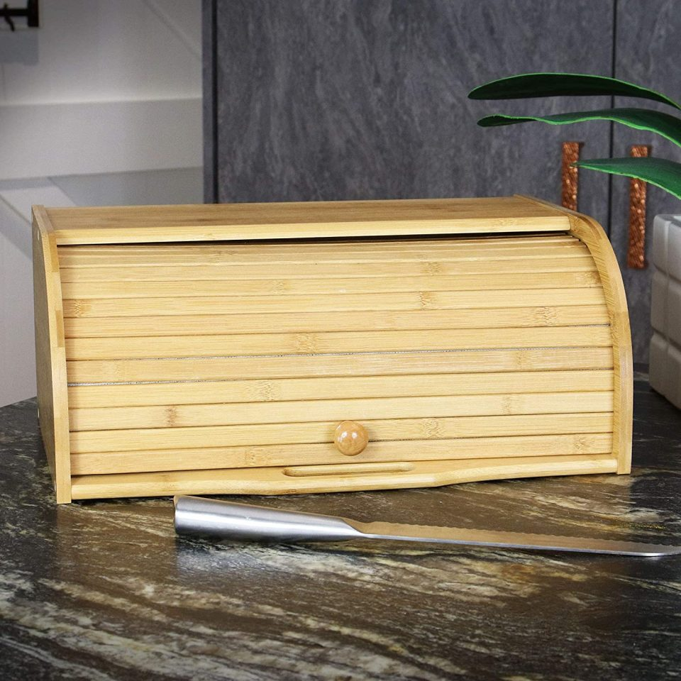 Bamboo Bread Bin Maison & White
