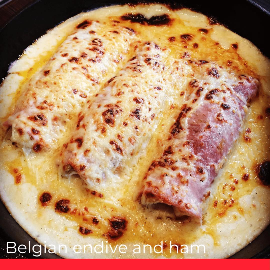 Belgian endive and ham