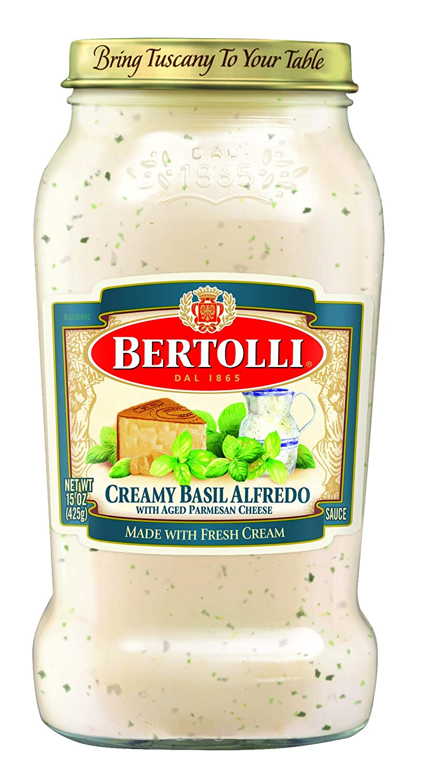 Bertolli Creamy Basil Alfredo Sauce,