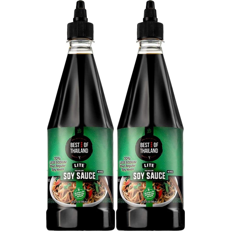 Best of Thailand Lite Soy Sauce (pack of two 23.6 fl.oz) - Asian Brewed
