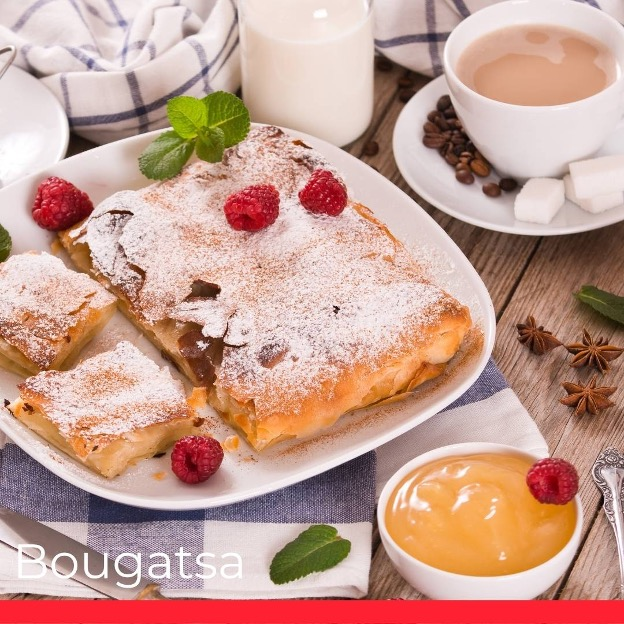  Bougatsa (Custard Pie with Phyllo Pastry)