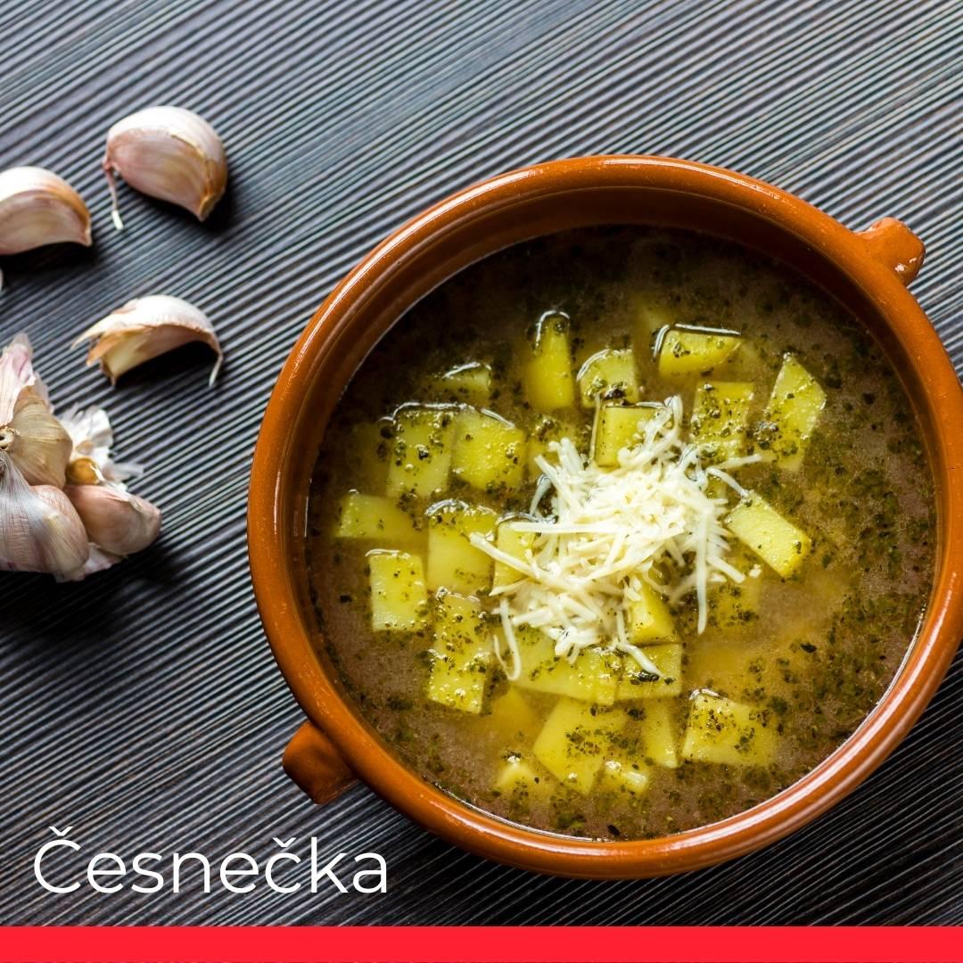 Česnečka (Garlic Soup)