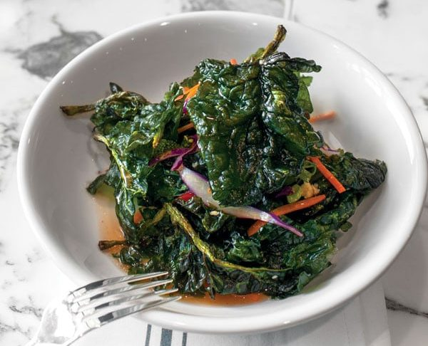 Fried Spinach Salad