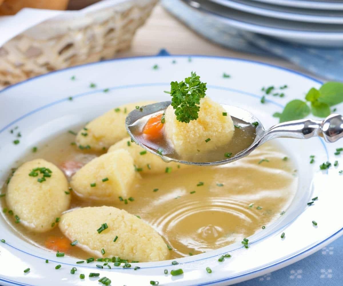 Chicken Soup with Semolina Dumplings/ Supa de galuste