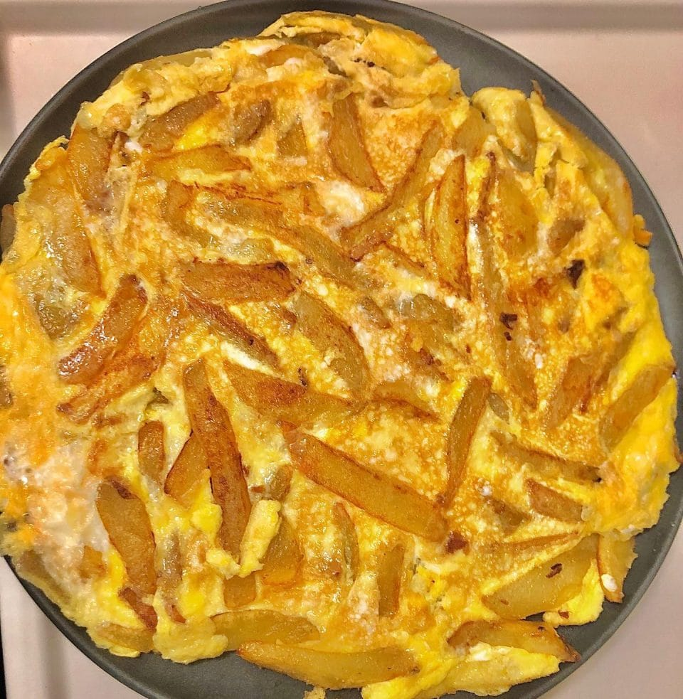 Chips Mayai (Omelet and French fries)