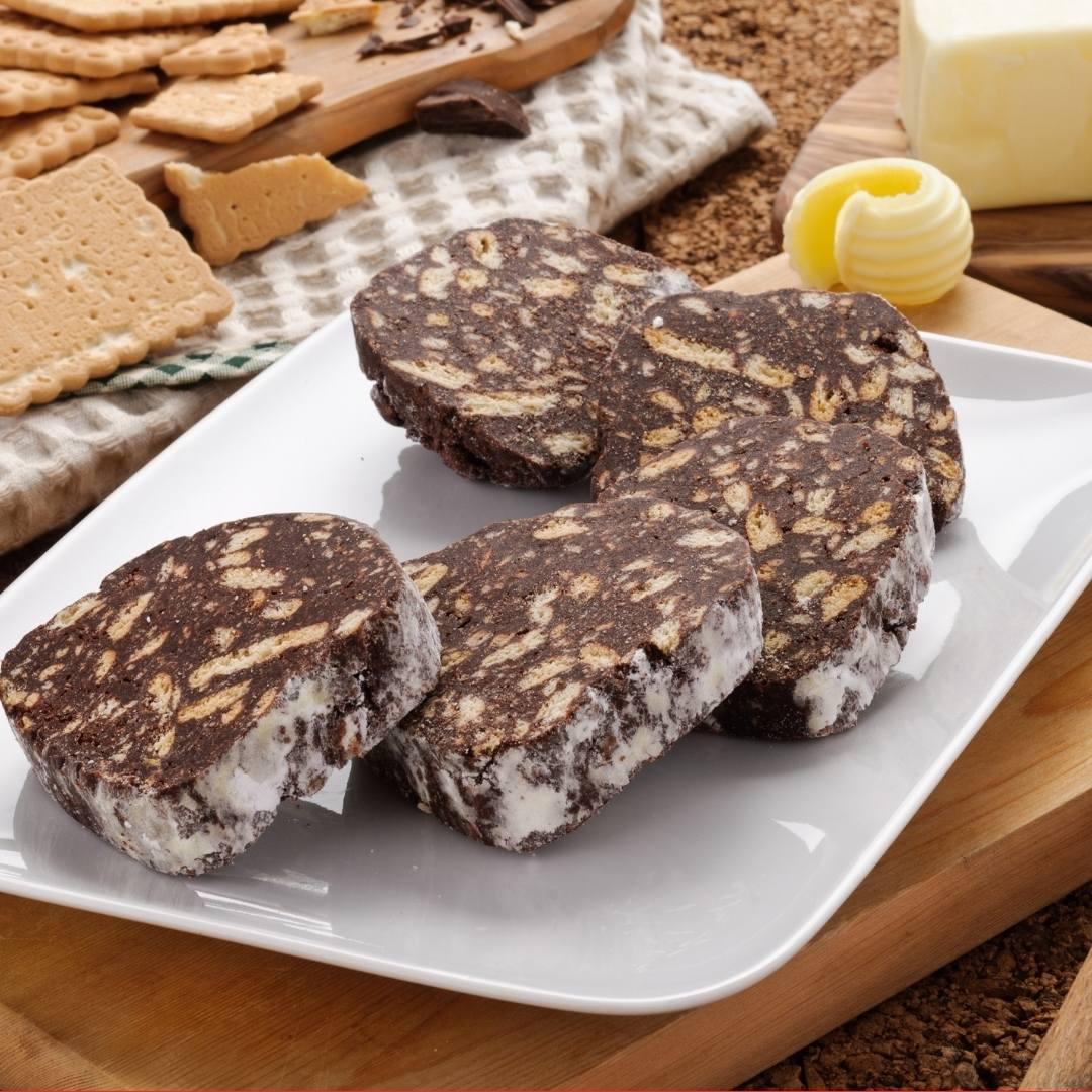 Chocolate Salami Roll/Salam de biscuiti