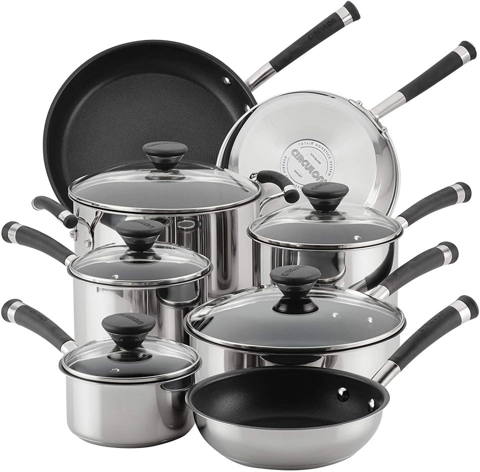 Circulon Acclaim Stainless Steel Cookware Pots and Pans Set