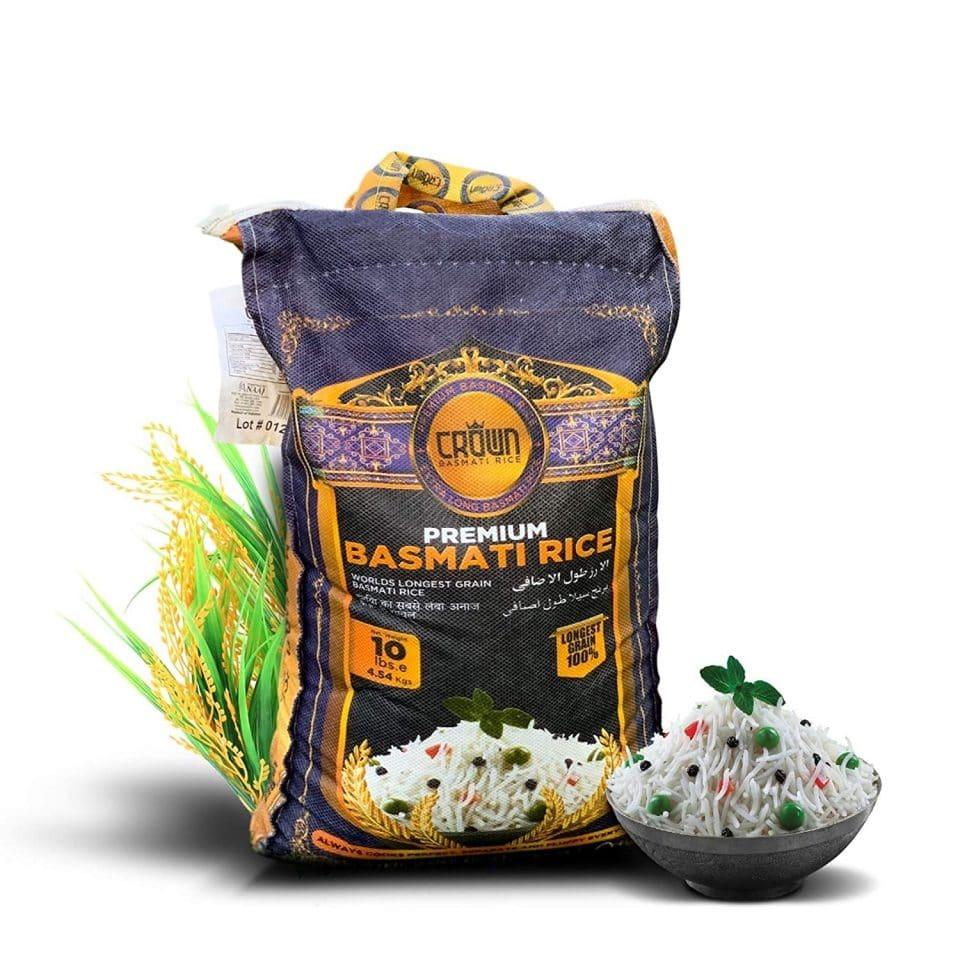 Crown Premium Quality White Basmati Rice