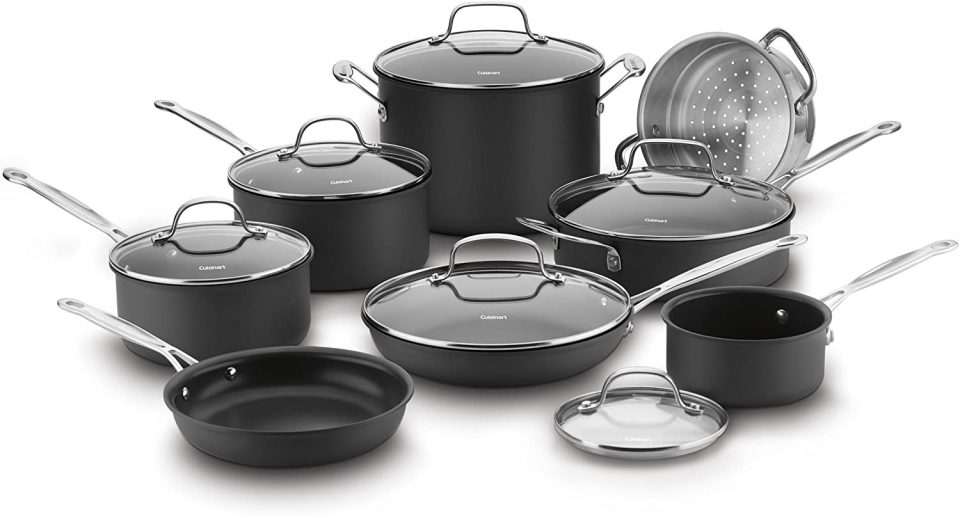 Cuisinart 66-14N 14 Piece Chef's Classic Non-Stick Hard Anodized Cookware Set