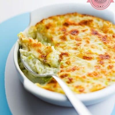 Leek Gratin with Lemon Béchamel and Beaufort Cheese