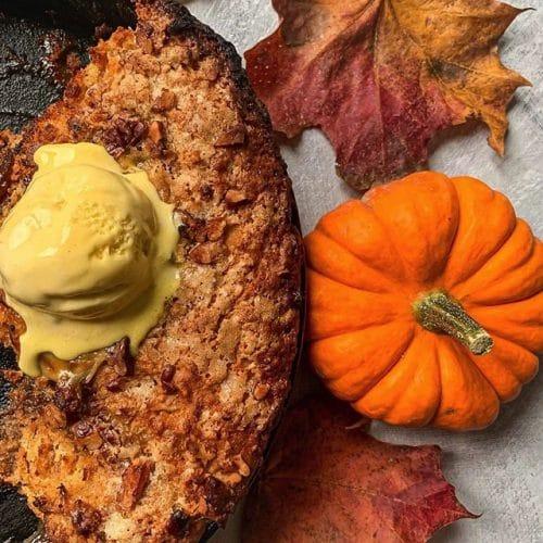 Pumpkin & Pecan Cobbler
